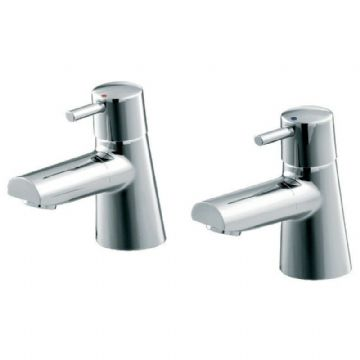 Ideal Standard Cone bath tap pair with chrome finish. B5106AA GRADED